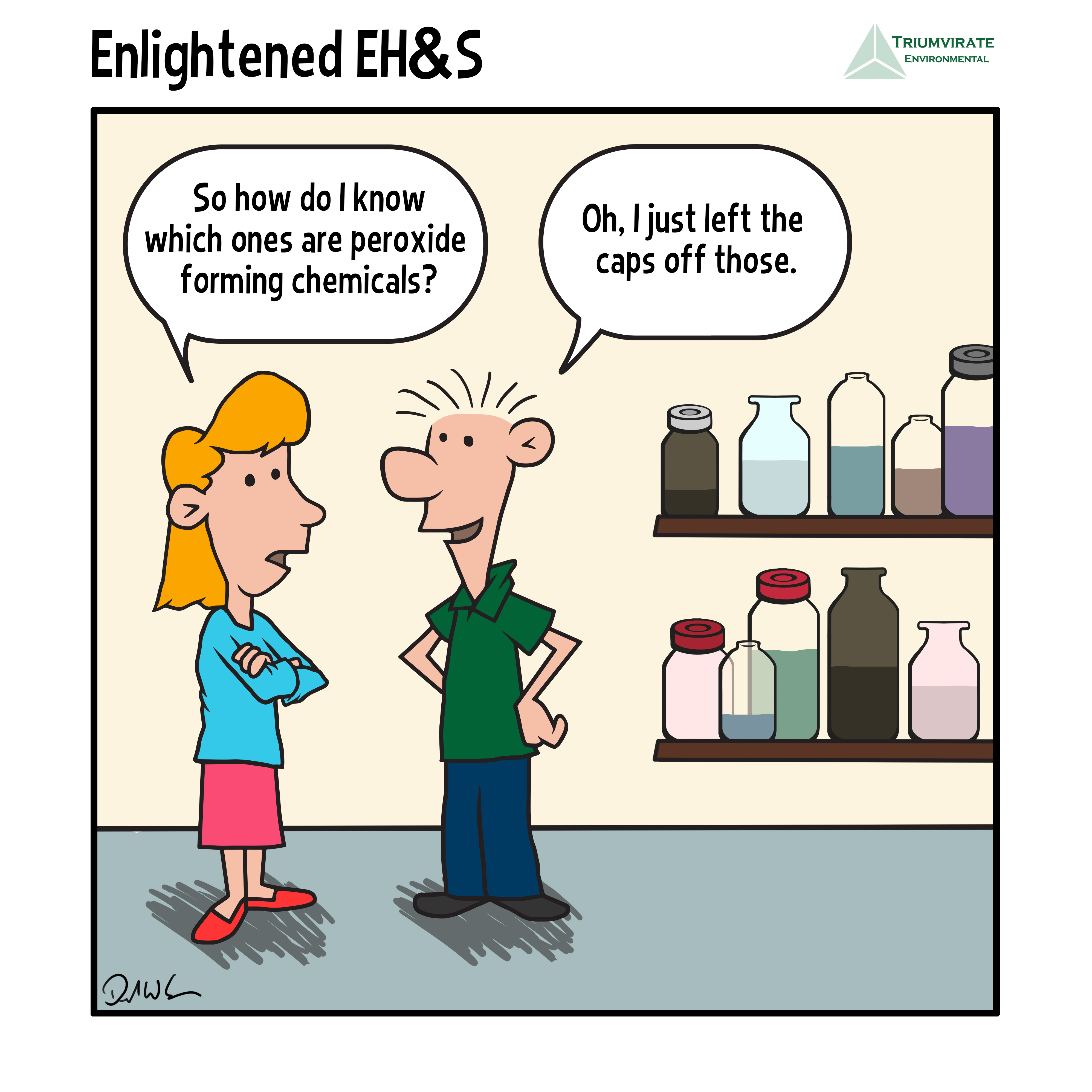 Enlightened EH&S: Peroxide Forming Compounds